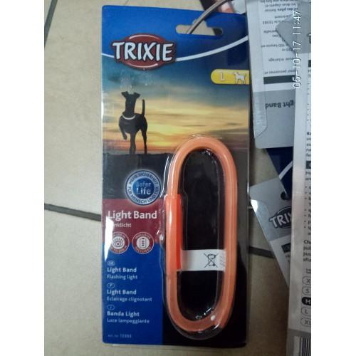 """Ошейник """"TRIXIE"""" для собак, мигающий светящийся, размер L ,50 см, оранжевый"""