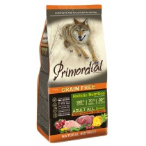 Primordial Adult Buffalo&Mackerel д/взрослых собак с буйволом и скумбрией 12кг + 4 кг в подарок