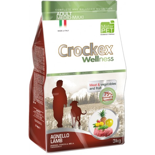 Crockex Adult Lamb&Rice д/взрослых собак средних и крупных пород с ягненком и рисом 12кг