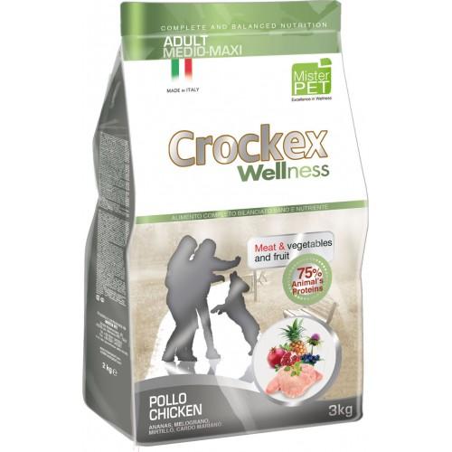 Crockex Adult Chicken&Rice д/взрослых собак средних и крупных пород с курицей и рисом 12кг